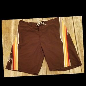 Rusty Men's Board Shorts Swim Trunks 36